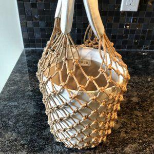 STAUD Moreau Bucket Bag in White